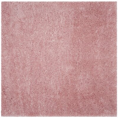Hermina Light Pink Area Rug Rug Size: Square 67 x 67