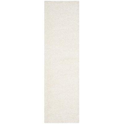 Hermina White Area Rug Rug Size: Runner 23 x 12