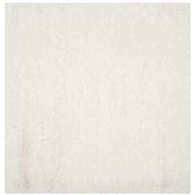 Hermina White Area Rug Rug Size: Square 67 x 67