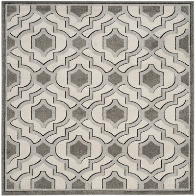 Maritza Ivory/Gray Indoor/Outdoor Area Rug Rug Size: Square 7