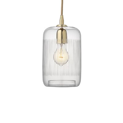 Duras 1-Light Mini Pendant Finish: Brass
