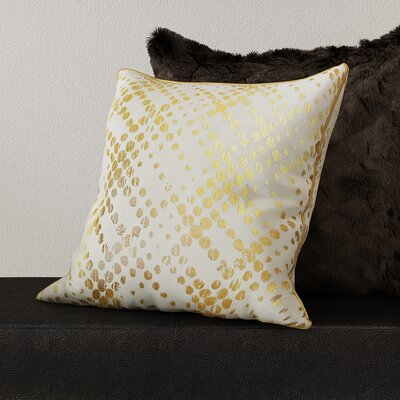 Lowndes Metallic Foil Throw Pillow Color: Gold
