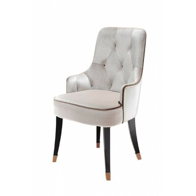 Janine Arm Chair Upholstery: White