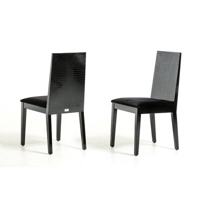 Felix Side Chair Frame Color: Black