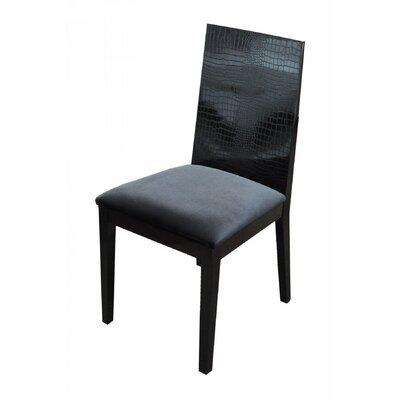 Felix Side Chair Frame Color: Black