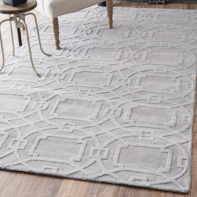 Cherelle Hand-Tufted Gray Area Rug Rug Size: 86 x 116