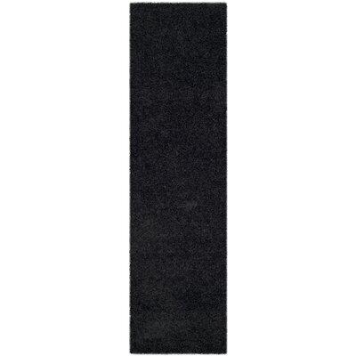 Beldon Power Loom Black Area Rug Rug Size: Runner 23 x 8