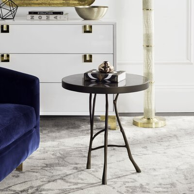 Pierson Amparo End Table Color: Brown/Bronze