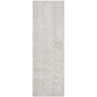 Otley White/Light Gray Area Rug Rug Size: Runner 23 x 7