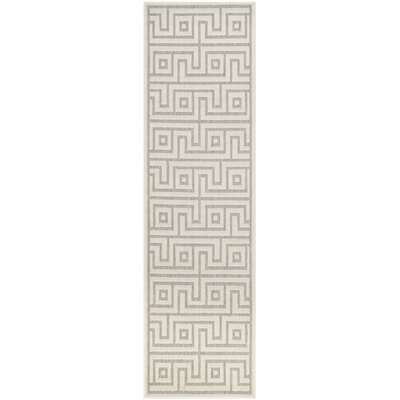 Apollina Light Gray/Cream Indoor/Outdoor Area Rug Rug Size: Runner 23 x 8