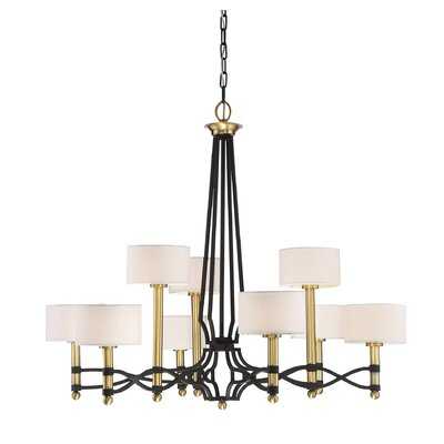 Harwell 9-Light Shaded Chandelier