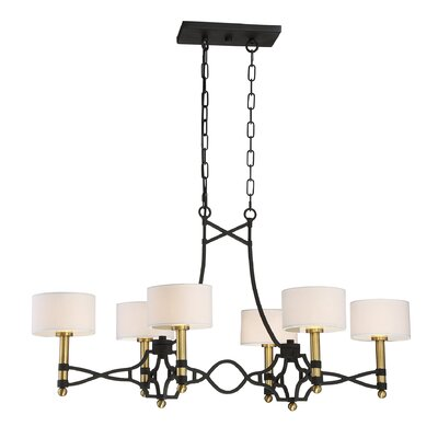 Harwell 6-Light Shaded Chandelier