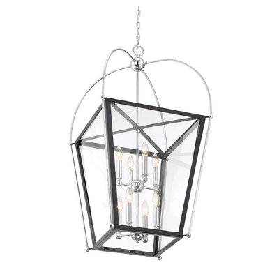Hedstrom 8-Light Foyer Pendant Finish: Matte Black/Polish Chrome