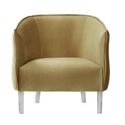 Baver Velvet Barrel Chair Upholstery: Gold