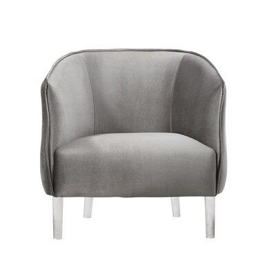 Baver Barrel Chair Upholstery: Silver