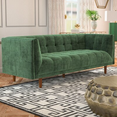 Ferrao Chesterfield Sofa Upholstery: Emeraid