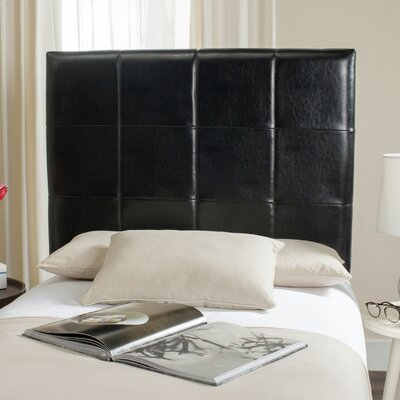 Muni Upholstered Panel Headboard Size: Full, Color: Black