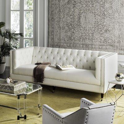 Wareham Chesterfield Sofa Upholstery: White