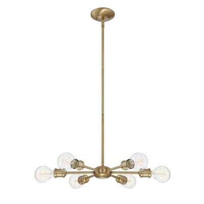 Bautista 6-Light Sputnik Chandelier Finish: Gold