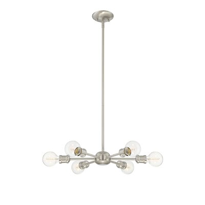 Bautista 6-Light Sputnik Chandelier Finish: Silver