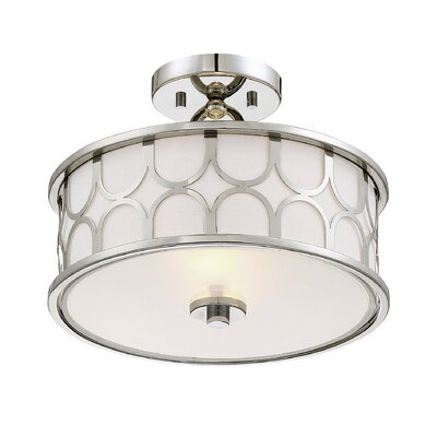 Bowers 2-Light Semi Flush Mount