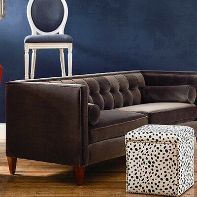 Harcourt Tuxedo Chesterfield Sofa Upholstery: Dark Charcoal Grey