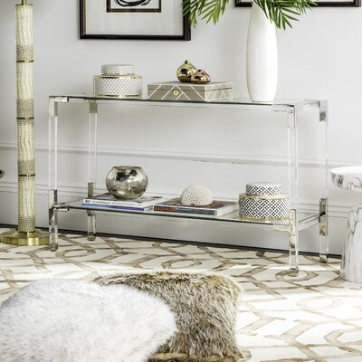 Mcdowell Console Table Finish: Silver