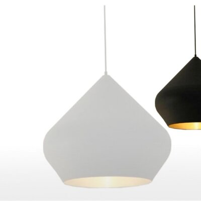 Candide Black 1-Light Pendant Finish: White