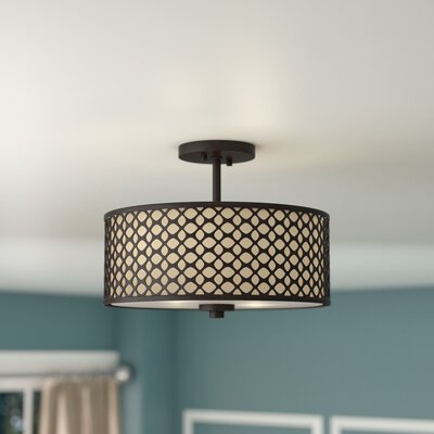 Coolidge 2-Light Semi Flush Mount Finish: Oil Rubbed Bronze