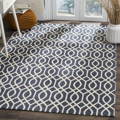 Holsworthy Navy / Ivory Rug Rug Size: Rectangle 5 x 8