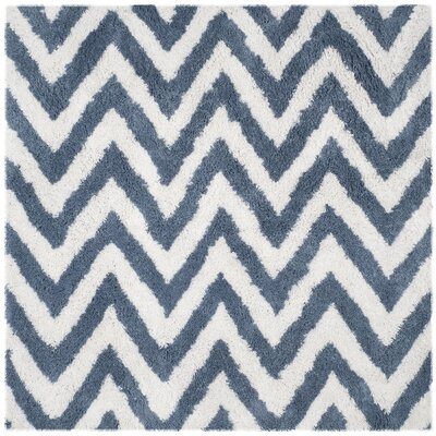 Davey Ivory/Blue Outdoor Area Rug Rug Size: Square 67
