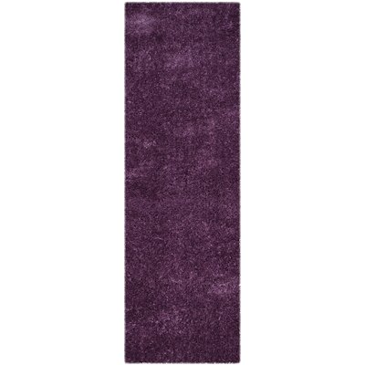 Zirconia Purple Area Rug Rug Size: Runner 23 x 7