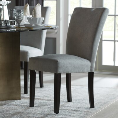 Danberry Parsons Chair Upholstery: Silver Gray