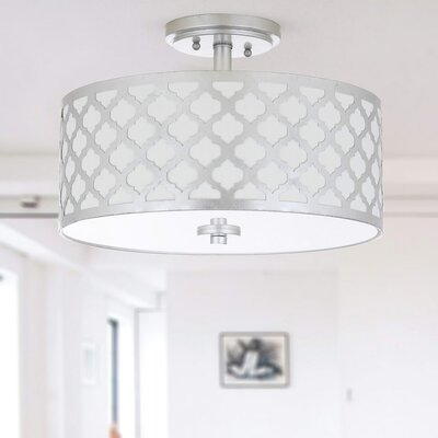 Maynard 3-Light Flush Mount Finish: Silver