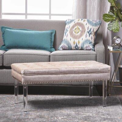 Rowles New Velvet Ottoman Upholstery: Champagne
