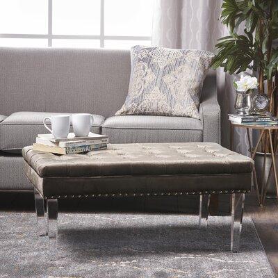 Rowlett New Velvet Ottoman Upholstery: Gray