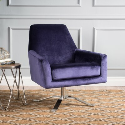 Bourne Swivel Armchair Upholstery: Plum