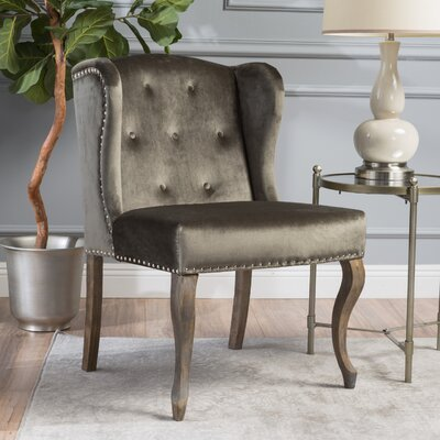 Hollange Wingback Chair Upholstery: Gray