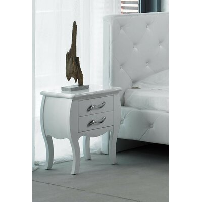 Beckett 2 Drawer Nightstand Finish: White