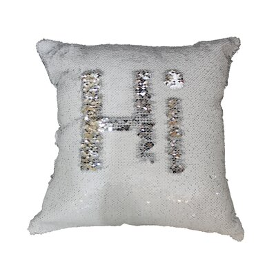 Barnard Sequin Throw Pillow Color: White