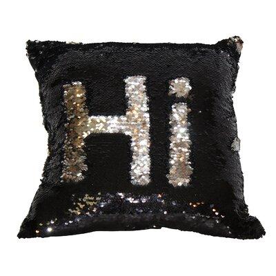 Barnard Sequin Throw Pillow Color: Black