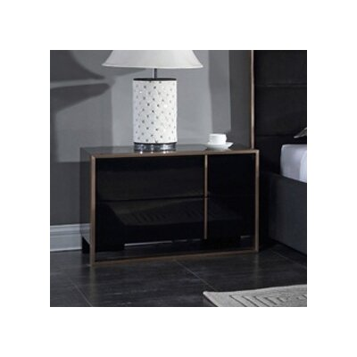 Katya 2 Drawer Nightstand Orientation: Right Facing