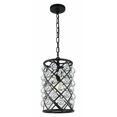Morion 1-Light LED Geometric Pendant Finish: Matte Black