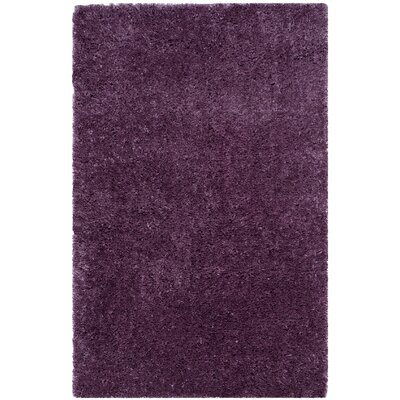 Zirconia Purple Area Rug Rug Size: Rectangle 4 x 6