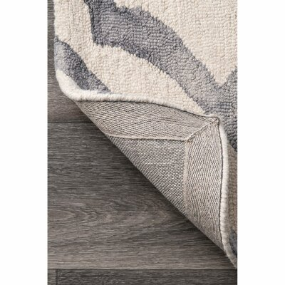 Beatrix Light Gray Area Rug Rug Size: Rectangle 6 x 9