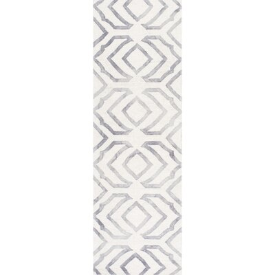 Beatrix Light Gray Area Rug Rug Size: Runner 26 x 8