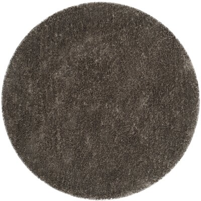 Chapman Hand-Tufted Brown Area Rug Rug Size: Round 5