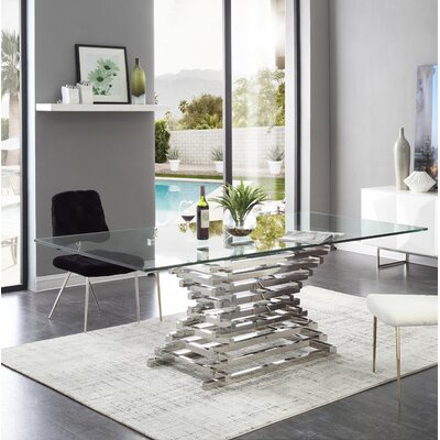 Kamm Counter Height Dining Table Size: 87 L x 49 W x 30 H