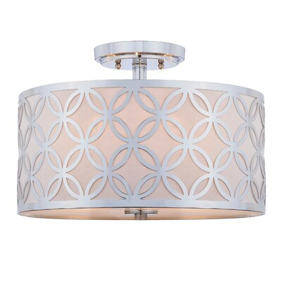 Greenman Leaf Trellis 3-Light Semi Flush Mount