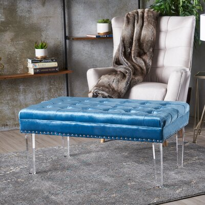 Rowlett Ottoman Upholstery: Aqua